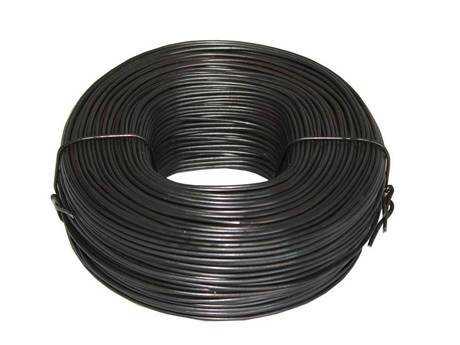 A coil of reinforcement tie wire.
